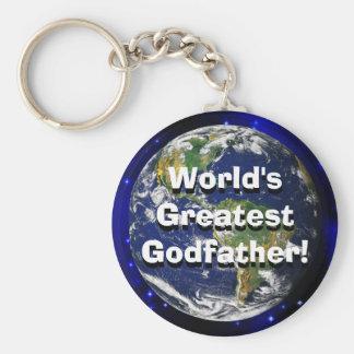 World's Greatest Godfather! Keychain