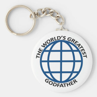 World's Greatest Godfather Basic Round Button Keychain
