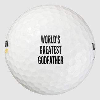 Worlds Greatest Godfather Pack Of Golf Balls