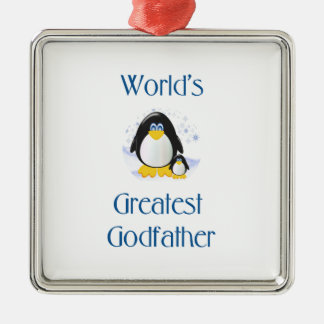 World's Greatest Godfather (penguin) Ornament