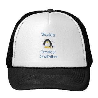 World's Greatest Godfather (penguin) Trucker Hat