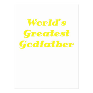Worlds Greatest Godfather Post Cards