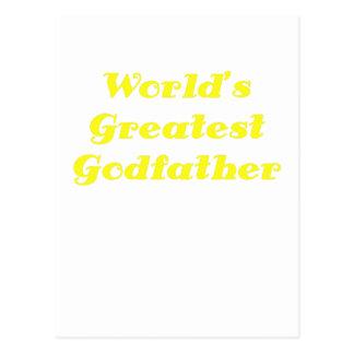 Worlds Greatest Godfather Postcard