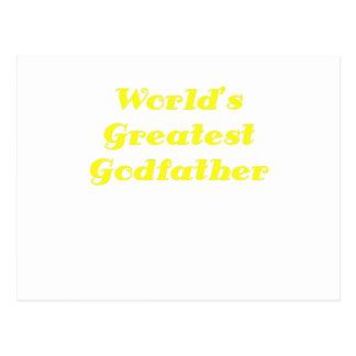 Worlds Greatest Godfather Postcards
