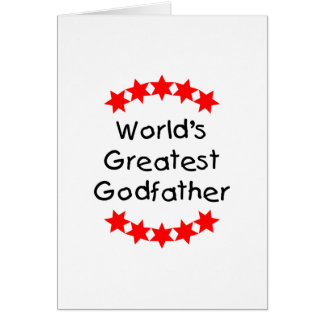 World's Greatest Godfather (red stars) Card