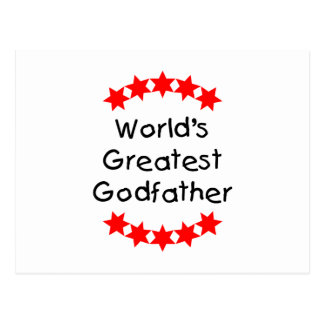 World's Greatest Godfather (red stars) Postcard