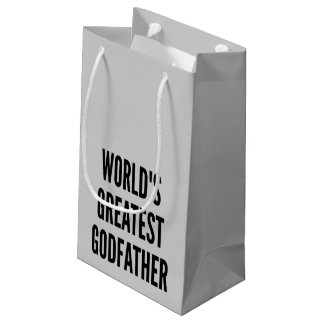 Worlds Greatest Godfather Small Gift Bag