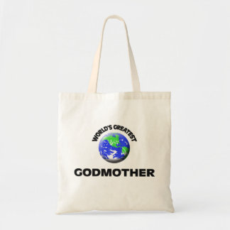 World's Greatest Godmother Canvas Bags