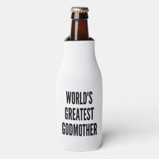 Worlds Greatest Godmother Bottle Cooler