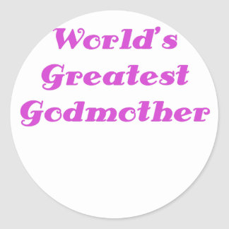 Worlds Greatest Godmother Classic Round Sticker