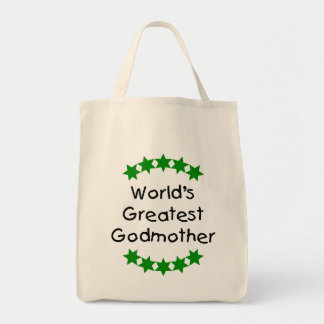 World's Greatest Godmother (green stars) Bags