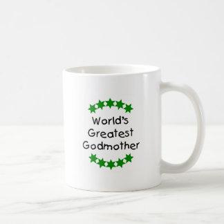 World's Greatest Godmother (green stars) Coffee Mug