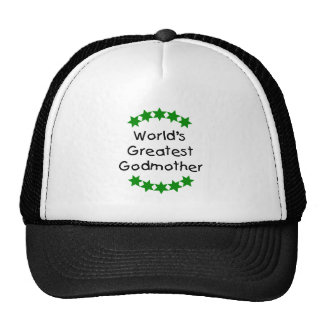 World's Greatest Godmother (green stars) Trucker Hat