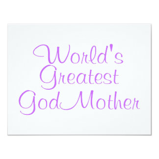 Worlds Greatest GodMother 4.25x5.5 Paper Invitation Card
