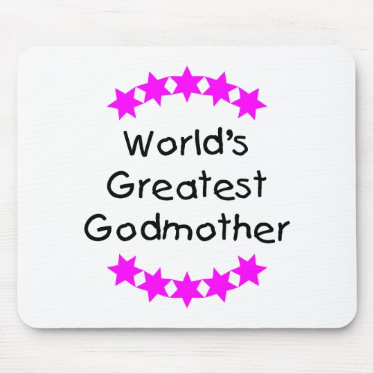 World's Greatest Godmother (pink stars) Mouse Pad