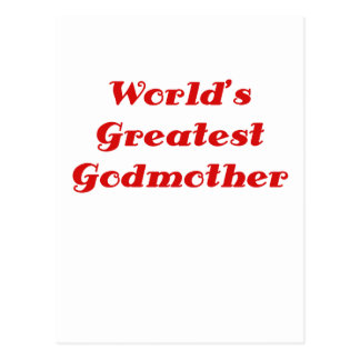 Worlds Greatest Godmother Post Card