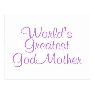 Worlds Greatest GodMother Postcard
