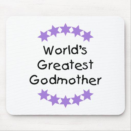World's Greatest Godmother (purple stars) Mouse Pad