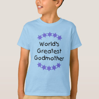 World's Greatest Godmother (purple stars) T-Shirt