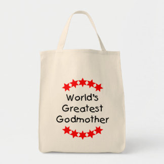 World's Greatest Godmother (red stars) Bags