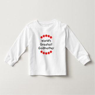 World's Greatest Godmother (red stars) Toddler T-shirt