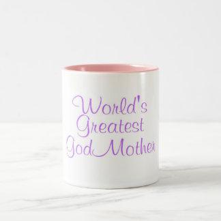 Worlds Greatest GodMother Two-Tone Coffee Mug