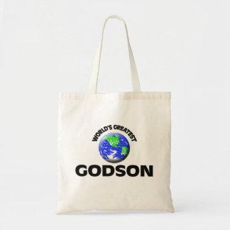 World's Greatest Godson Canvas Bags