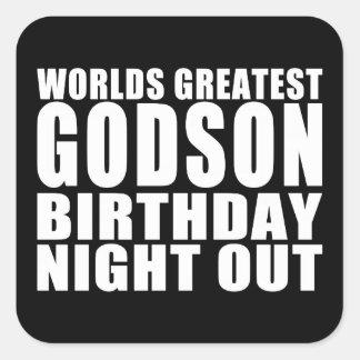 Worlds Greatest Godson Birthday Night Out Stickers