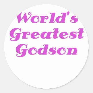 Worlds Greatest Godson Classic Round Sticker