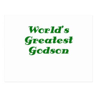 Worlds Greatest Godson Postcard