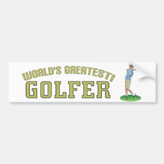 World's Greatest Golfer! Bumper Stickers
