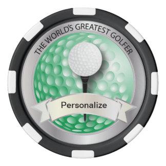 World's Greatest Golfer | DIY Name Poker Chips Set