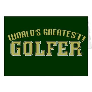 World's Greatest Golfer! Greeting Card