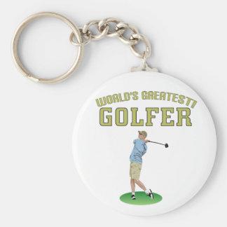 World's Greatest Golfer! Keychains