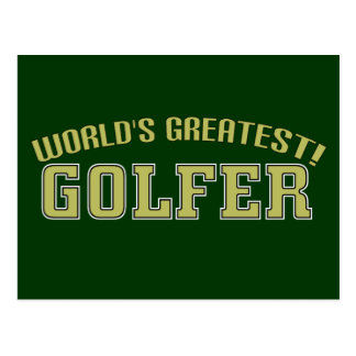 World's Greatest Golfer! Post Card