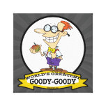WORLDS GREATEST GOODY GOODY CARTOON GALLERY WRAP CANVAS