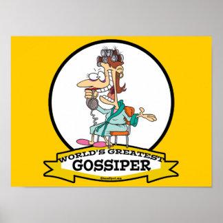 WORLDS GREATEST GOSSIPER WOMEN CARTOON POSTER