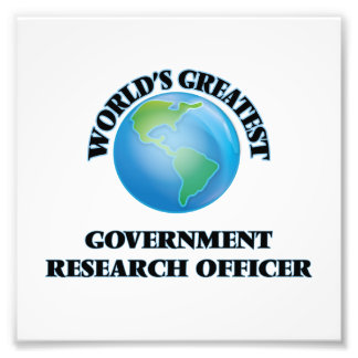 World's Greatest Government Research Officer Photo