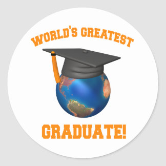 World's Greatest Graduate Classic Round Sticker