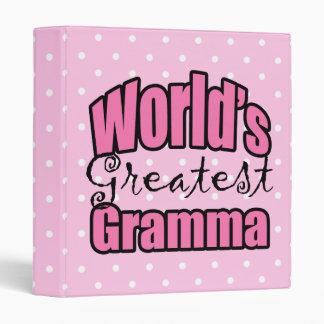 Worlds Greatest Gramma 3 Ring Binder