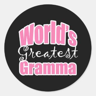 Worlds Greatest Gramma Classic Round Sticker