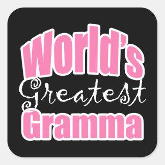 Worlds Greatest Gramma Square Sticker