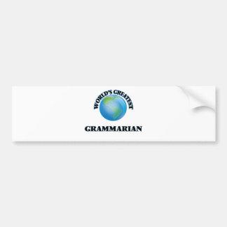 World's Greatest Grammarian Car Bumper Sticker
