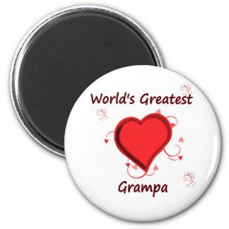 World's Greatest grampa 2 Inch Round Magnet