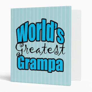 Worlds Greatest Grampa 3 Ring Binder