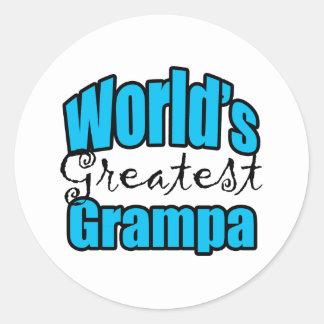 Worlds Greatest Grampa Classic Round Sticker