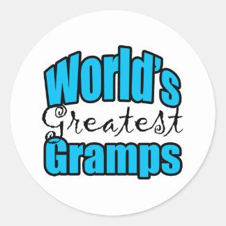Worlds Greatest Gramps Classic Round Sticker