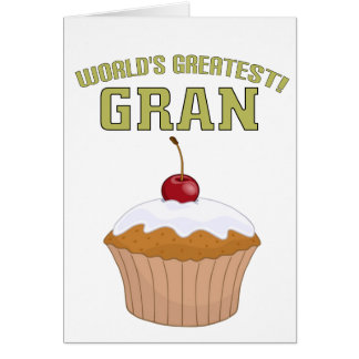 World's Greatest Gran! Greeting Cards