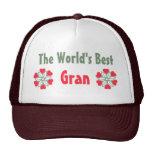 World's Greatest Gran Red Heart Flower Hat