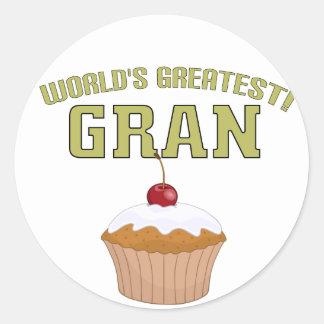 World's Greatest Gran! Round Sticker